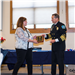 Sarah Thorsteinson accepts a Citizens Award from Chief Jeff Berino