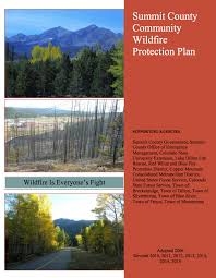 summit county community wildfire protection plan